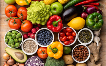 Healthy Eating Ingredients: Fresh Vegetables, Fruits And Superfo